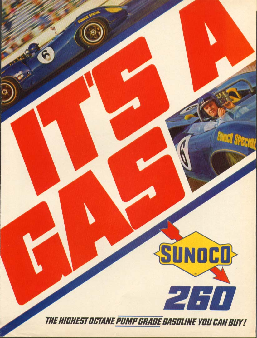 Image for Sunoco 260 Special It's A Gas Mark Donohue ad 1967
