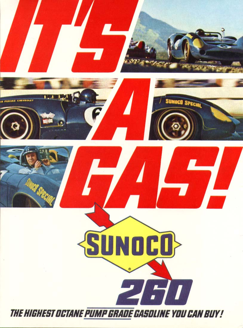 Image for Sunoco Special 260 It's A Gas! Mark Donohue ad 1967