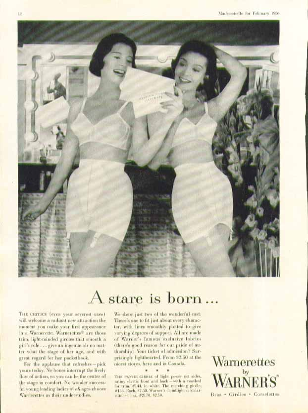 Image for A stare is born Warner's Warnerette girdle ad 1956