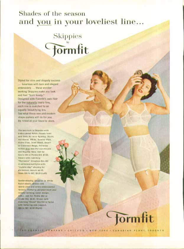 Image for You in your loveliest line Formfit Skippies Girdle ad 1957