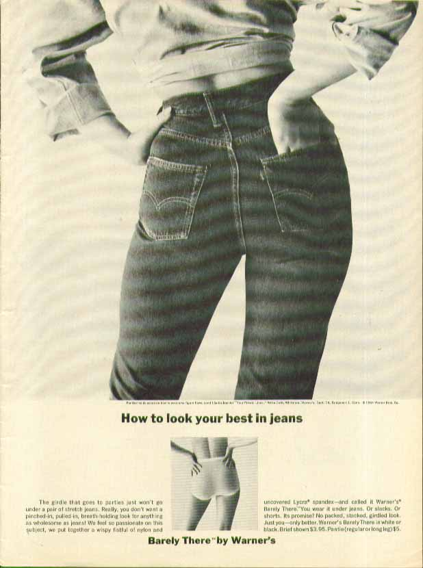 Image for How to look your best in jeans Warner's Barely There girdle ad 1964