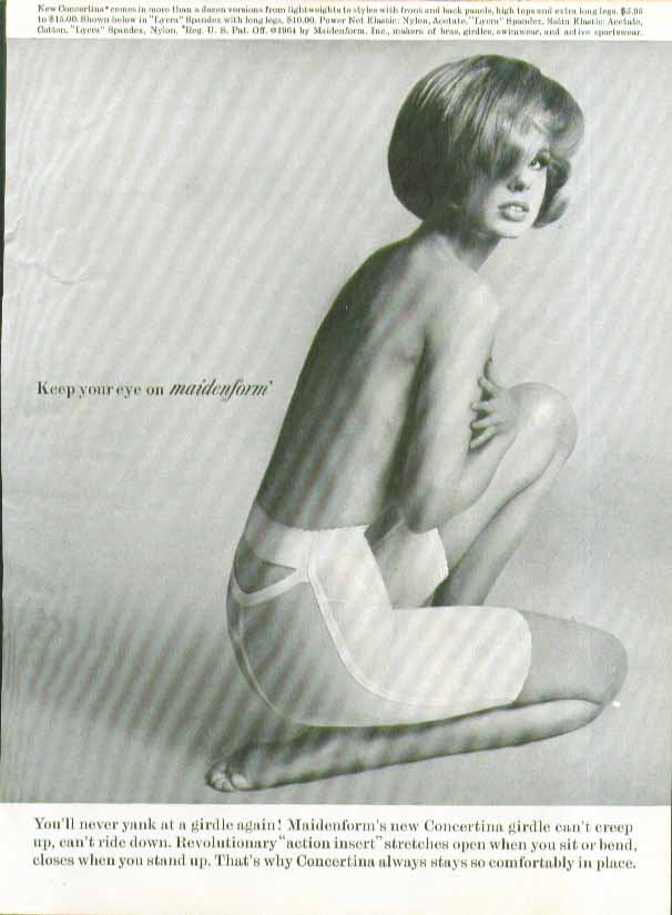 Image for Keep an eye on Maidenform Concertina Girdle ad 1964