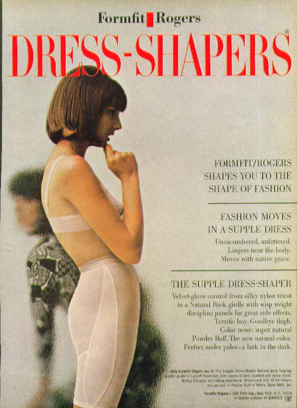 Image for Formfit Rogers Dress-Shapers Natural Back girdle ad 1965