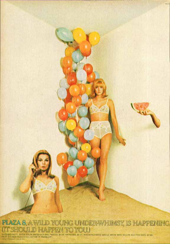 Image for Plaza 8 A wild young under-whimsy Perma-Lift Girdle ad 1966