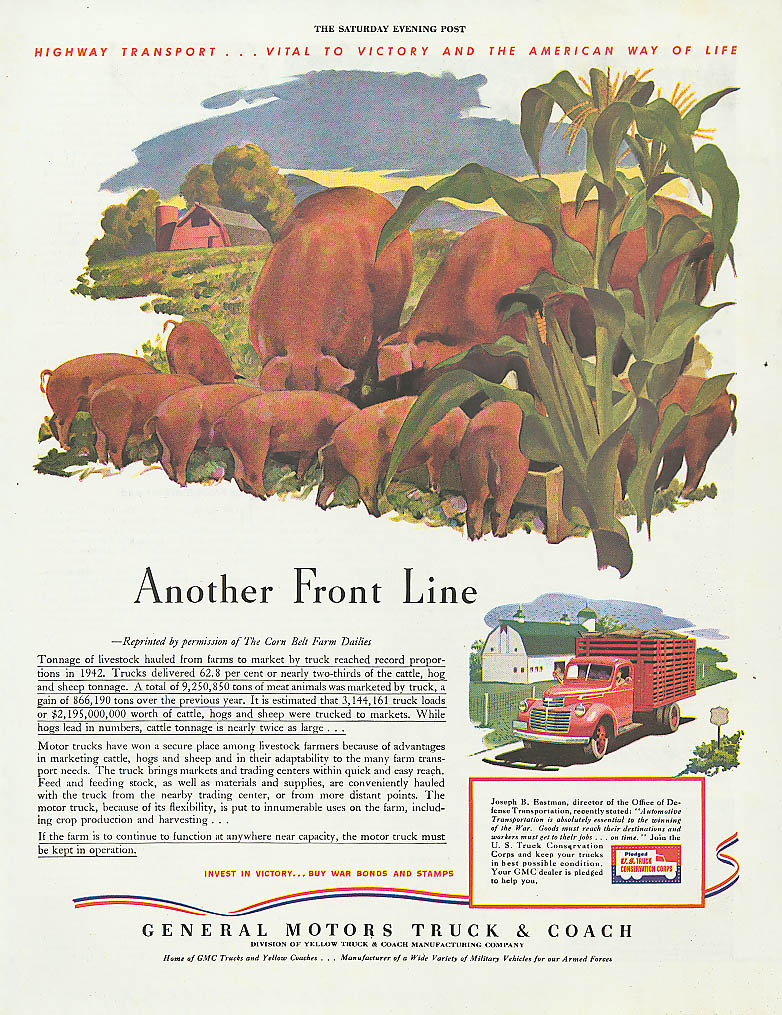 Another Front Line 1943 GMC stake truck ad Hog Farm