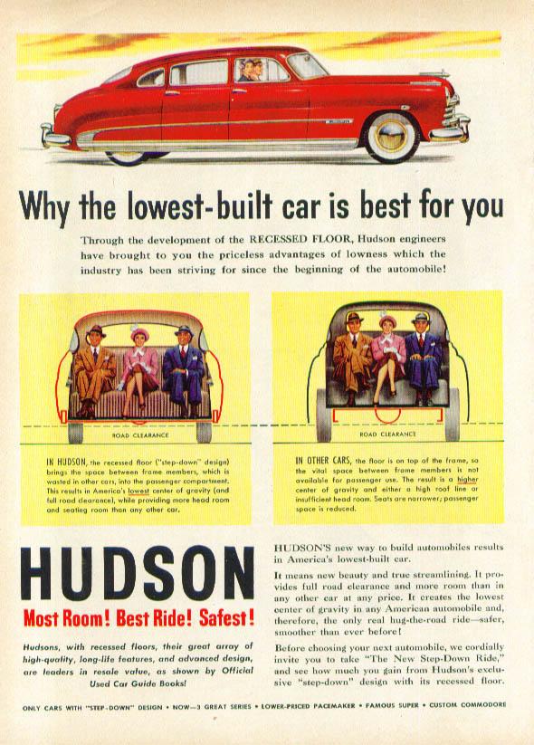 Image for Most Room! Best Ride! Safest! 1950 Hudson ad