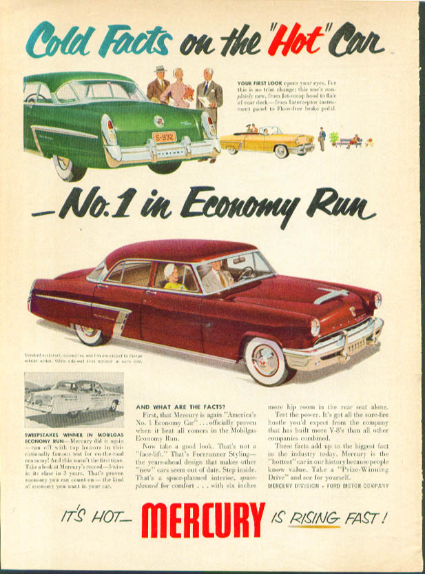 Image for Cold Facts on the Hot Car 1952 Mercury ad