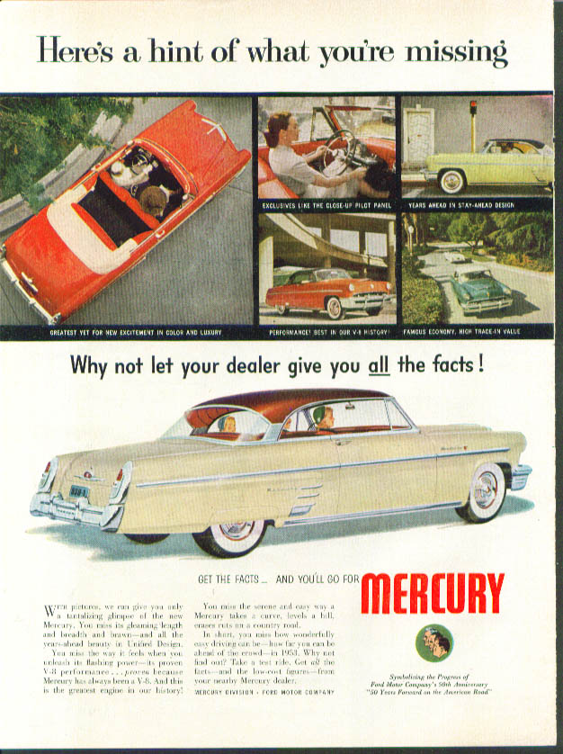 Image for Here's a hint of what you're missing 1953 Mercury ad
