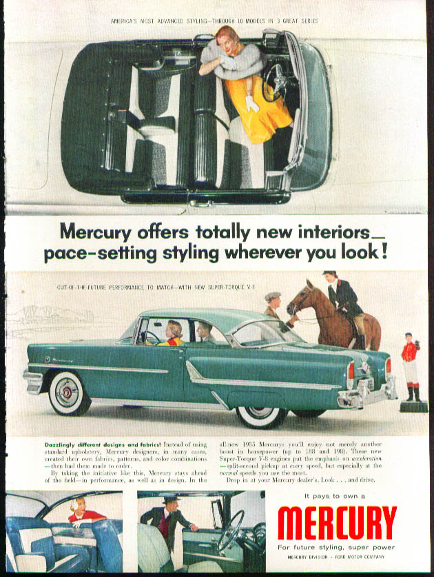 Image for Totally new interiors - pace-setting 1955 Mercury ad