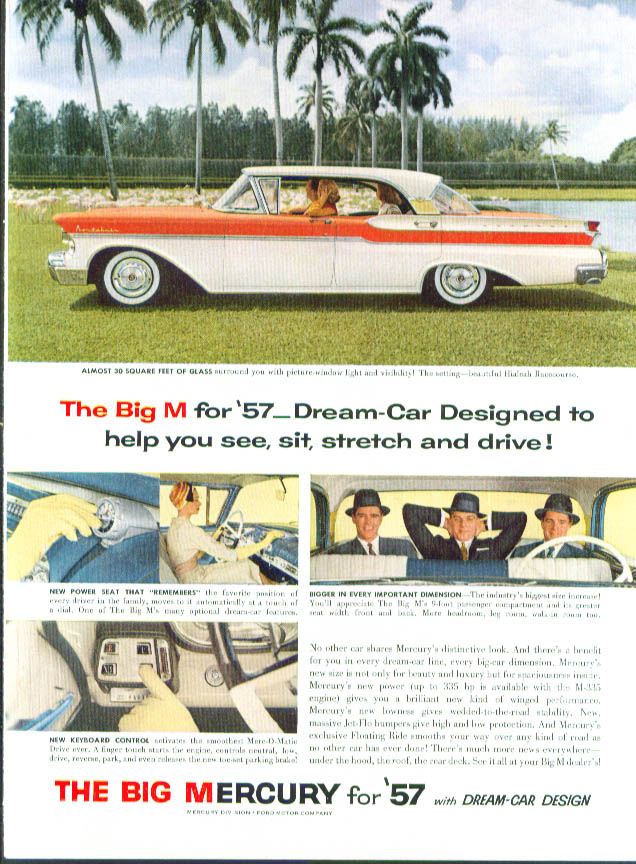 Image for Dream-Car Designed to help you see 1957 Mercury ad