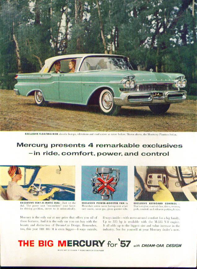 Image for 4 remarkable exclusives 1957 Mercury ad