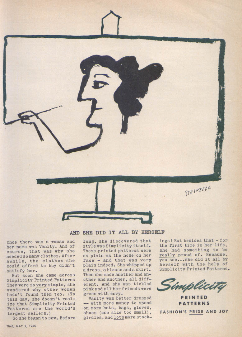 Image for Self-portrait Simplicity ad Saul Steinberg 1955