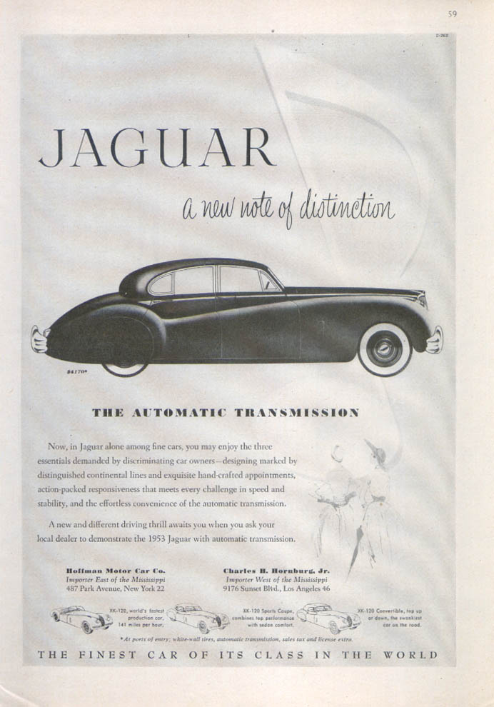Jaguar Mark VII Saloon new note of distinction ad 1953