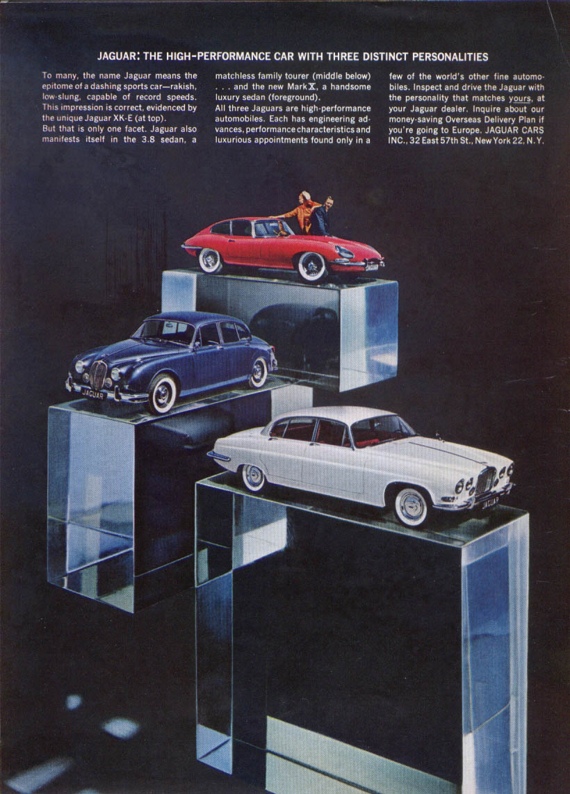 Image for Jaguar XK-E, 3.8 sedan, Mark X high-performance ad 1963