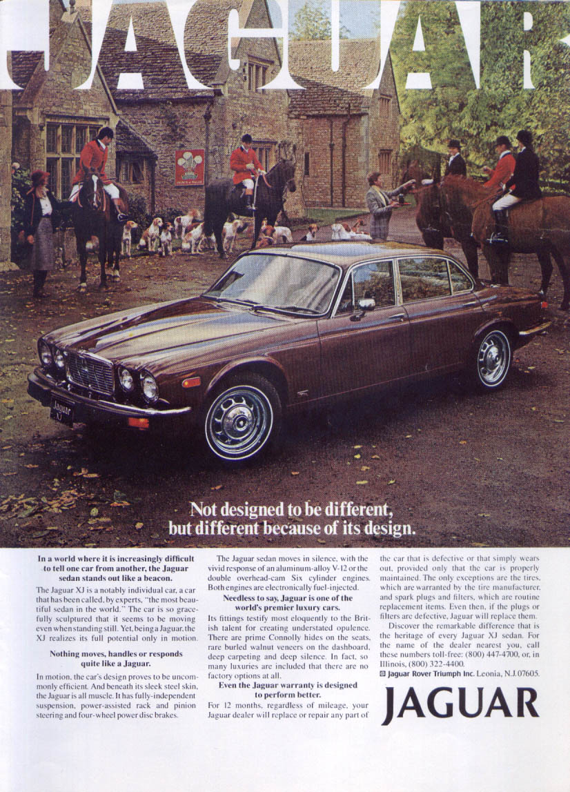 Jaguar XJ sedan different because of its design ad 1979