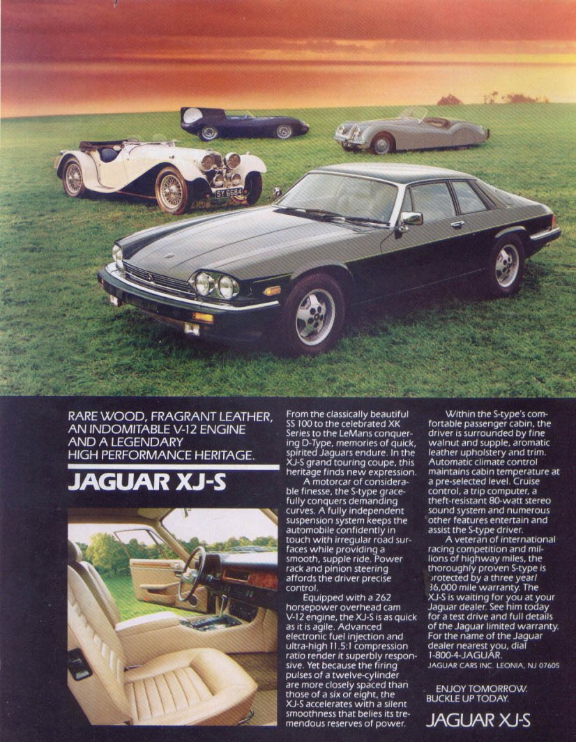 Jaguar XJ-S grand touring coupe heritage ad 1980