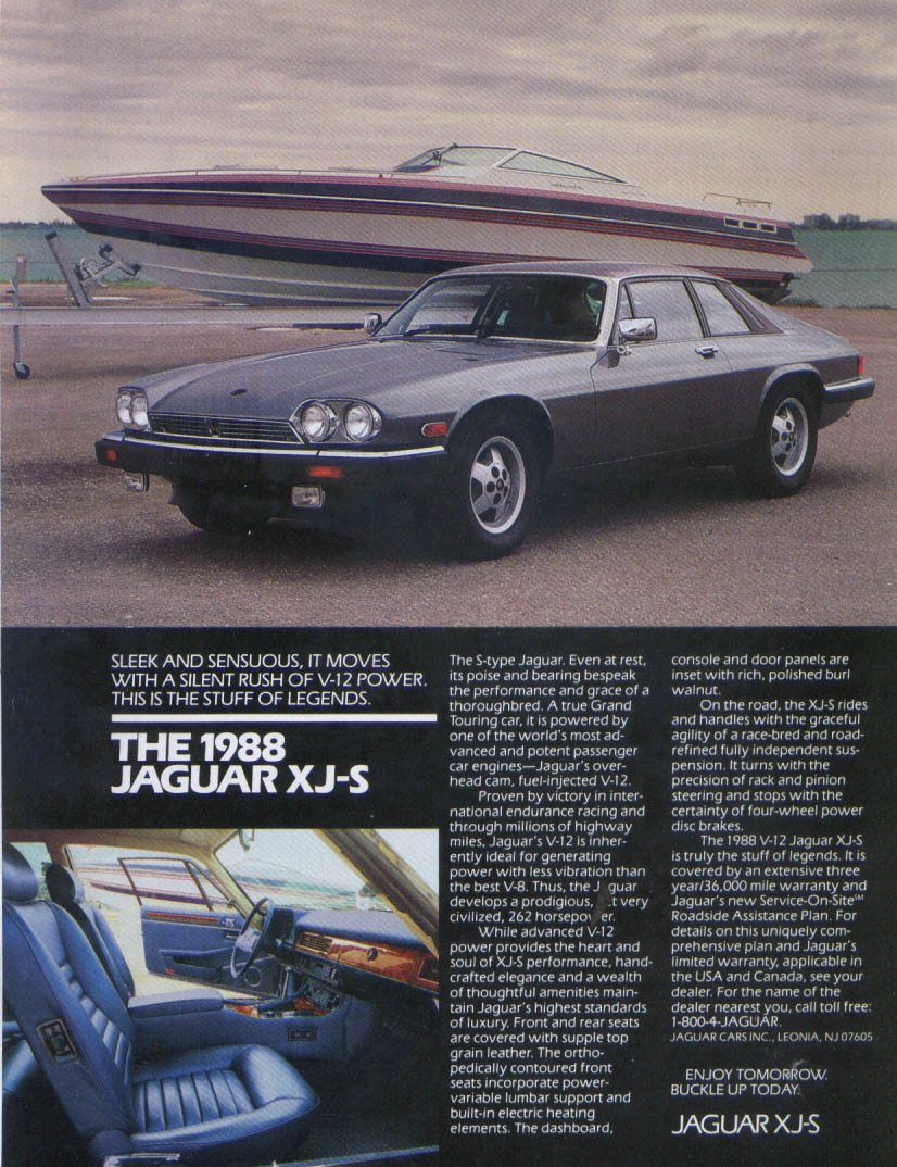 Jaguar XJ-S Stuff of Legends ad 1988