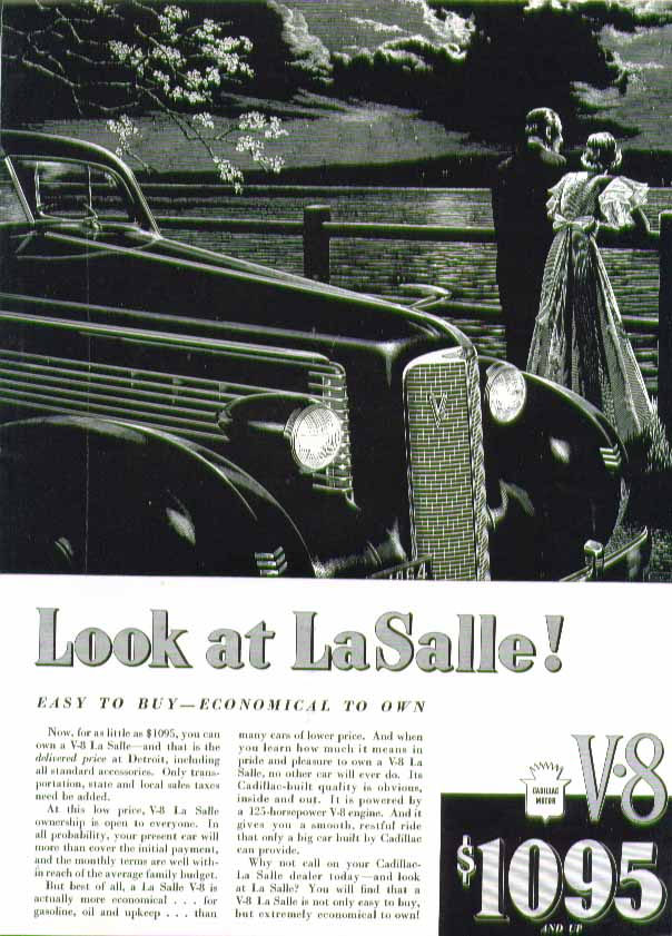 Image for Look at La Salle! Easy to buy - economical to own ad 1937