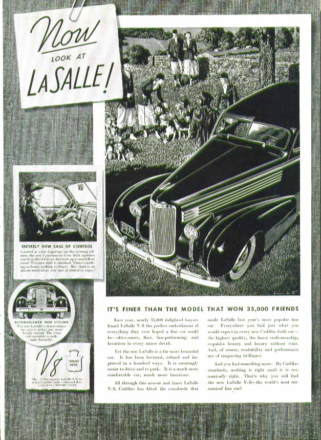 Image for Now look at La Salle! Finer than the model that won 35,000 friends ad 1938 fox