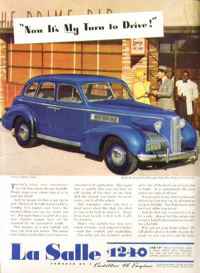 Now it's MY turn to Drive! La Salle ad 1939
