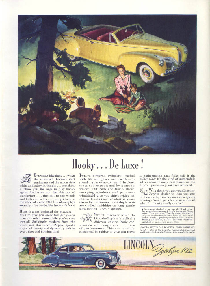 Image for Hooky . . . De Luxe! Lincoln Zephyr V-12 ad 1941