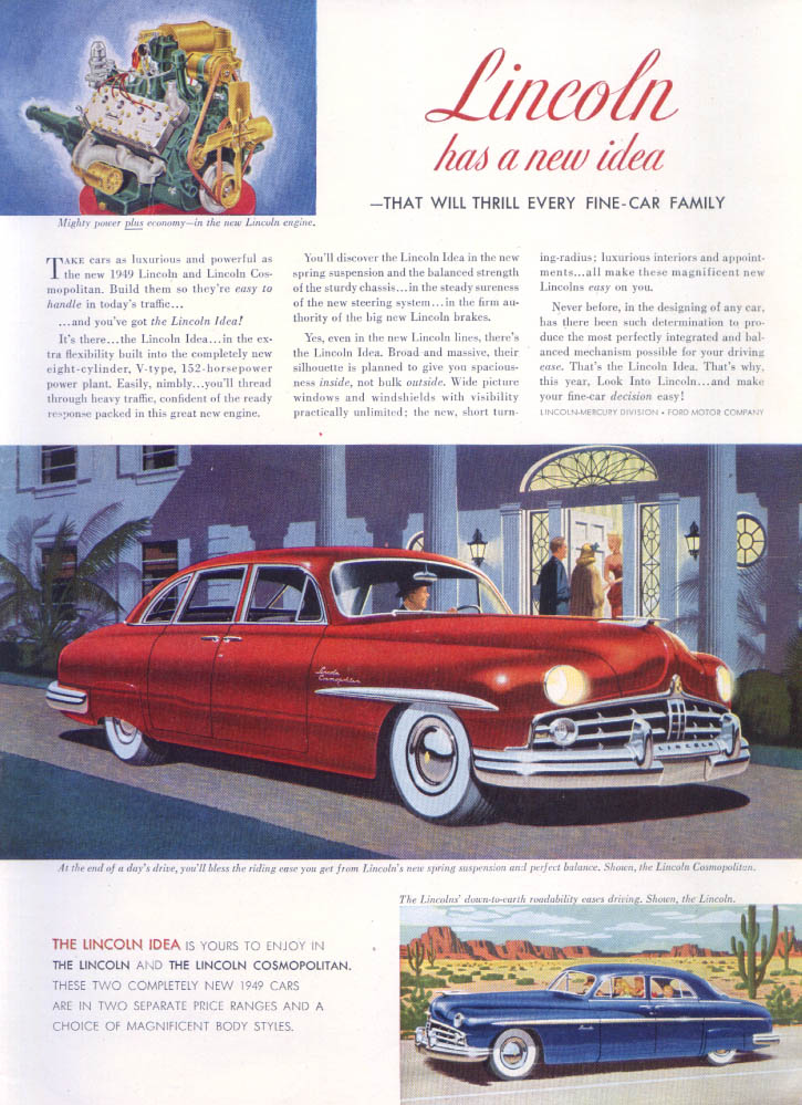 Image for Lincoln Thrill Every Fine-Car Cosmopolitan ad 1949