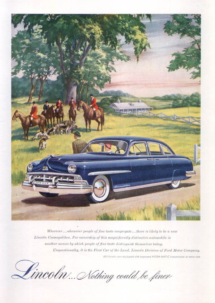 Image for Lincoln Cosmopolitan ad Wherever whenever… 1950