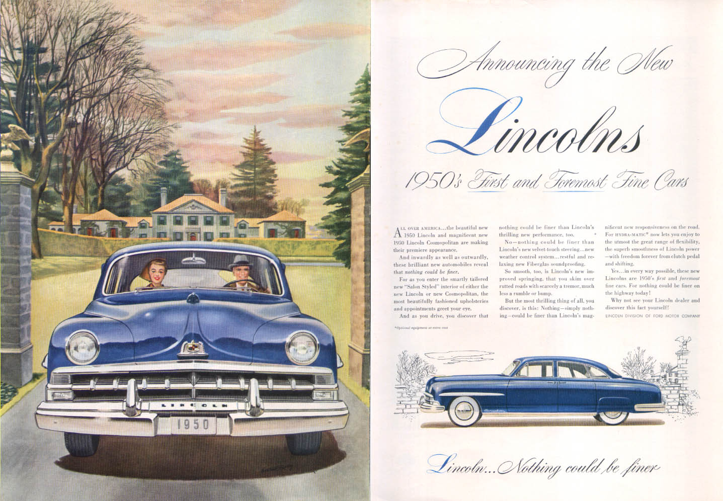 Image for Lincoln Cosmopolitan ad First and Foremost 1950