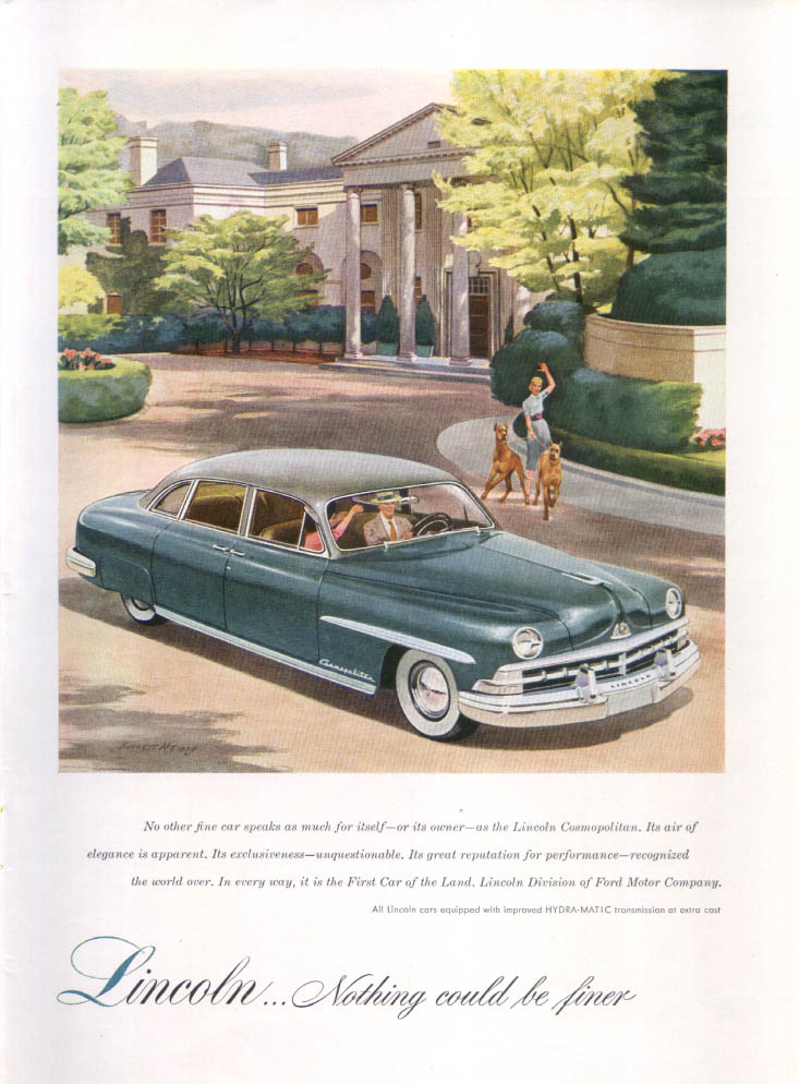 Image for Lincoln Cosmopolitan air of elegance ad 1950