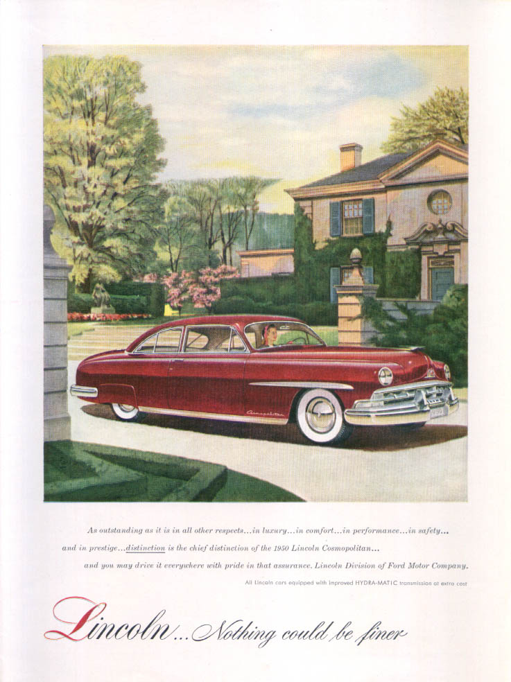 Image for Lincoln Cosmopolitan Outstanding... Ad 1950