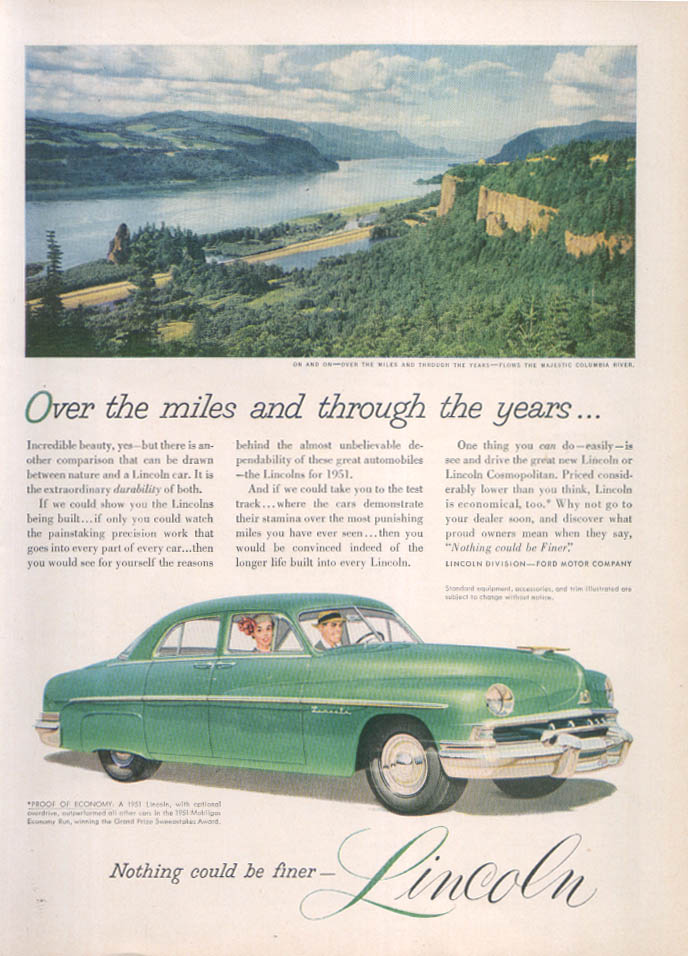 Image for Lincoln Over the miles… Columbia River ad 1951