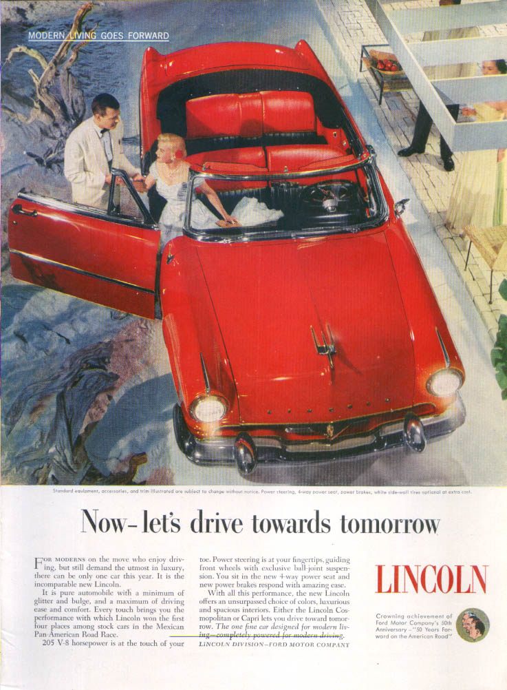 Image for Lincoln Now let's drive towards tomorrow ad 1953