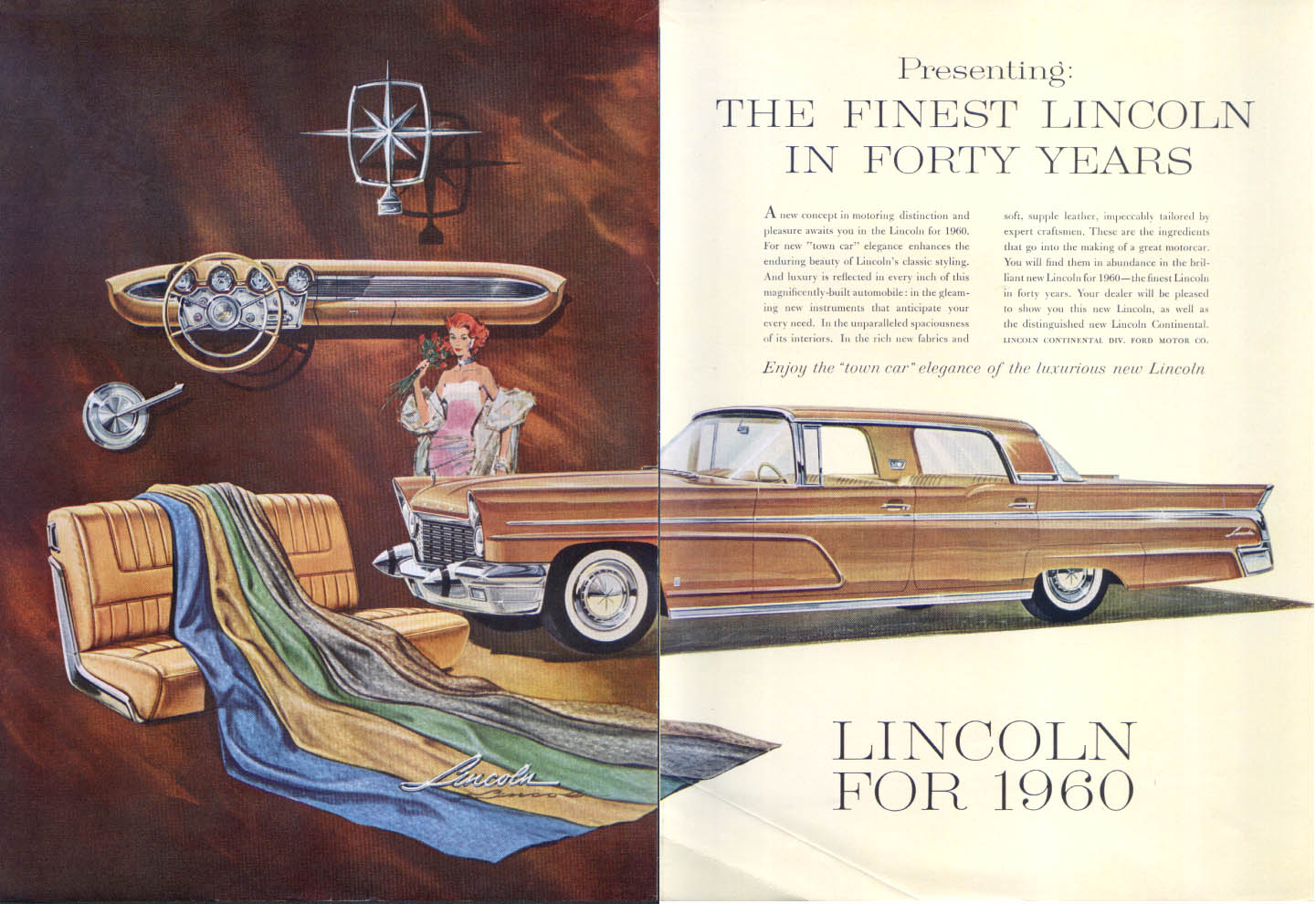 Image for Lincoln Finest in Forty Years ad 1960