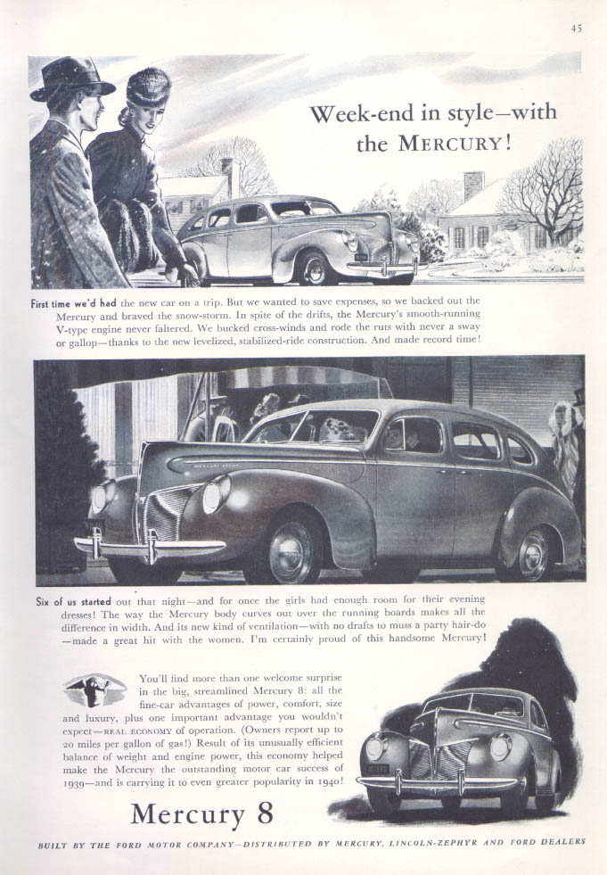 Announcing the New Mercury 8 for 1941 ad