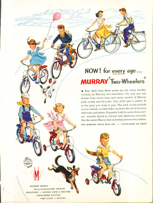 Now! For every age Murray Two-Wheelers bicycle ad 1955