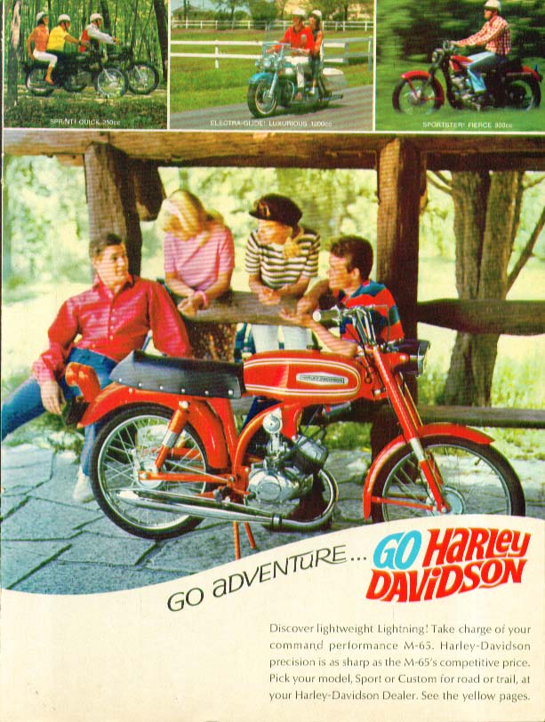 Image for Go Adventure Go Harley-Davidson M-65 Motorcycle ad 1967