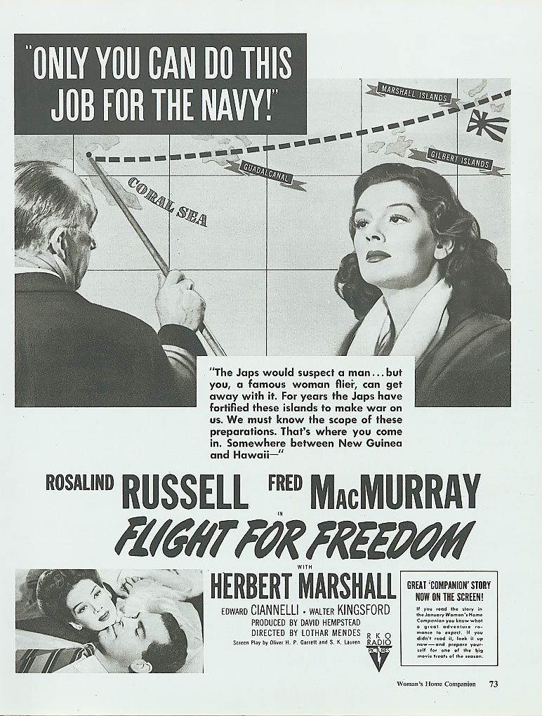 Image for Fight for Freedom movie ad Rosalind Russell 1943