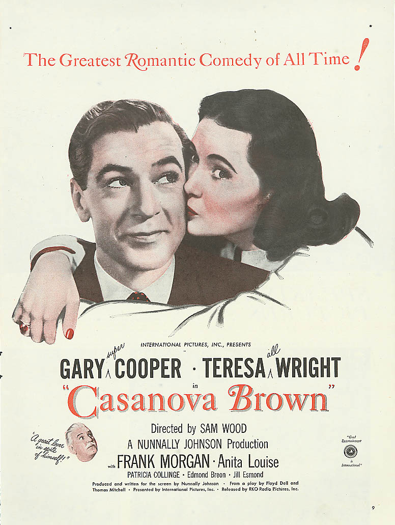 Image for Casanova Brown ad Gary Cooper Teresa Wright 1944