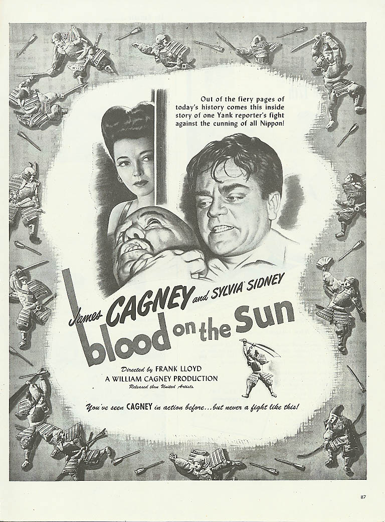 Image for Blood on the Sun ad James Cagney Sylvia Sidney 1945