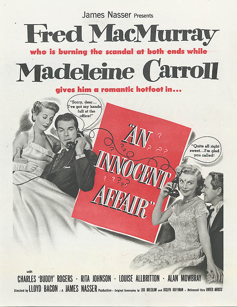 An Innocent Affair ad Fred MacMurray Madeleine Carroll