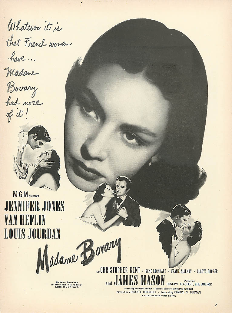 Jennifer Jones Van Heflin Madame Bovary movie ad 1949