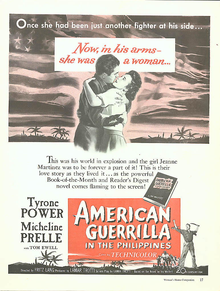 American Guerrilla in the Philippines ad Tyrone Power