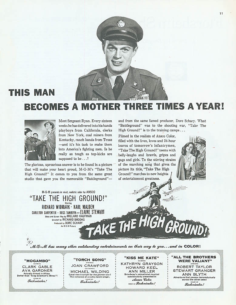 Image for Take the High Ground movie ad Richard Widmark 1953