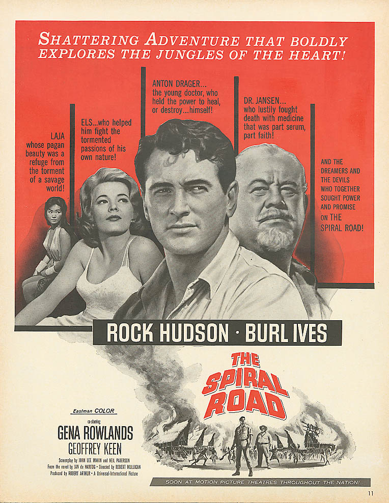 Image for The Spiral Road ad Rock Hudson Gena Rowlands 1962