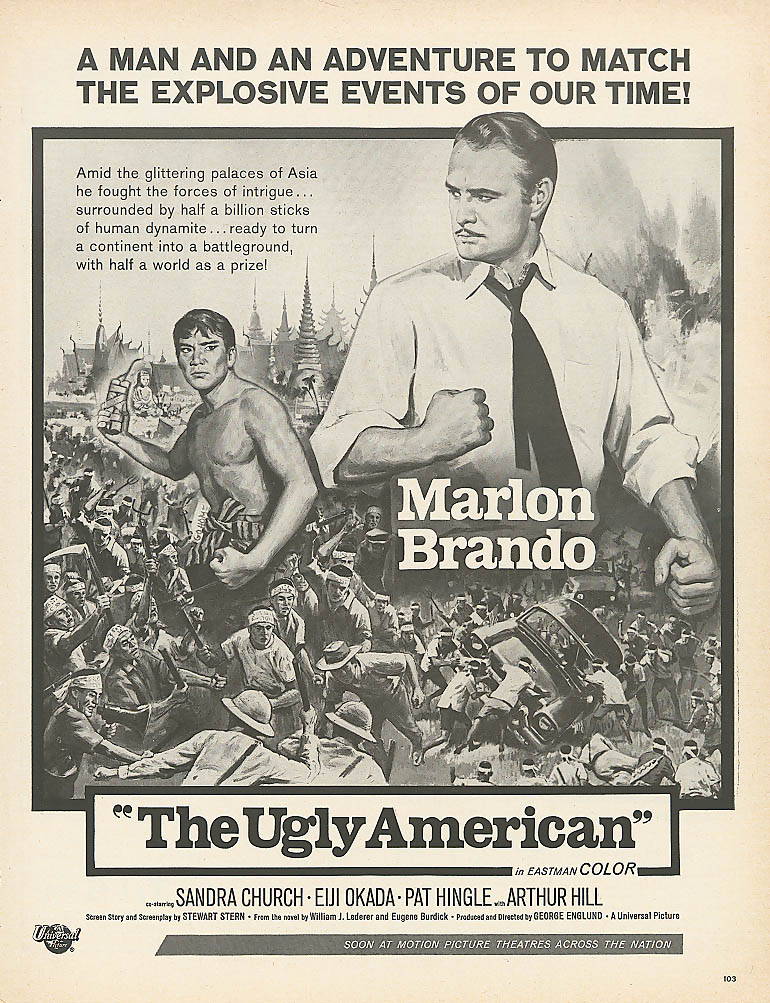 Image for The Ugly American movie ad Marlon Brando 1963 Life