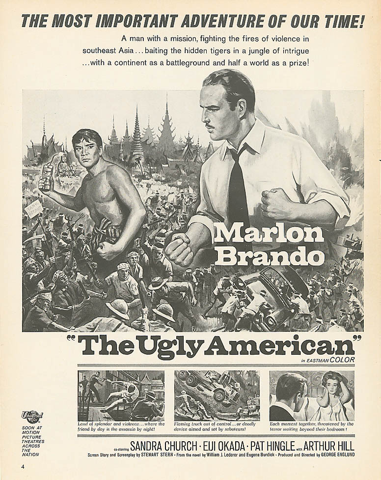 Image for The Ugly American movie ad Marlon Brando 1963 Look
