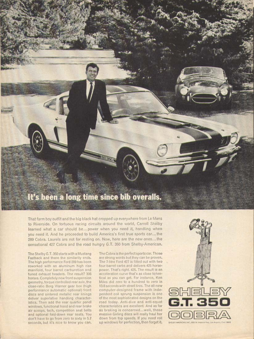 Image for Long time since bib overalls Shelby GT 350 Mustang 1966