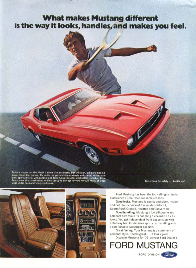Image for What makes a Mustang Mach I different ad 1973