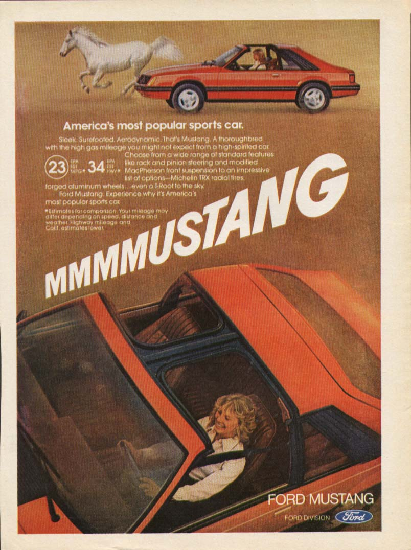 America's Most Popular Sports Car MMM Mustang ad 1981