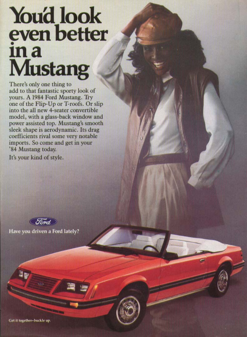 Image for You'd look even better in a Mustang ad 1984
